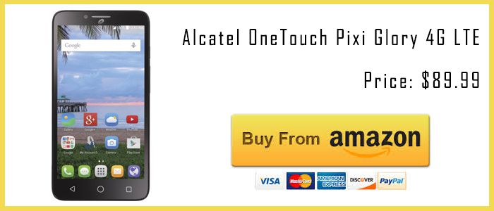 best tracfone smartphones Alcatel OneTouch Pixi Glory amazon buy now