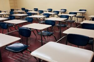 chairs in classroom